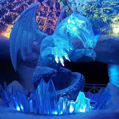 Bleu comme ... ce dragon en glace à SKI DUBAÏ
