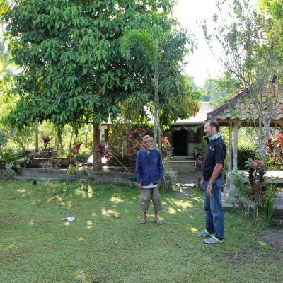 Un jardin très propre et bien garni de fruits et légumes