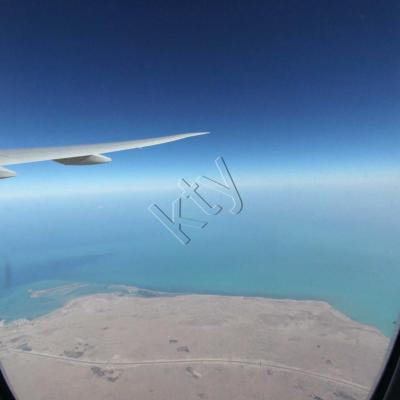 Vol au dessus du Qatar