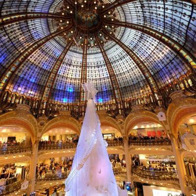 Bleu comme ... la coupole des Galeries Lafayette de Paris
