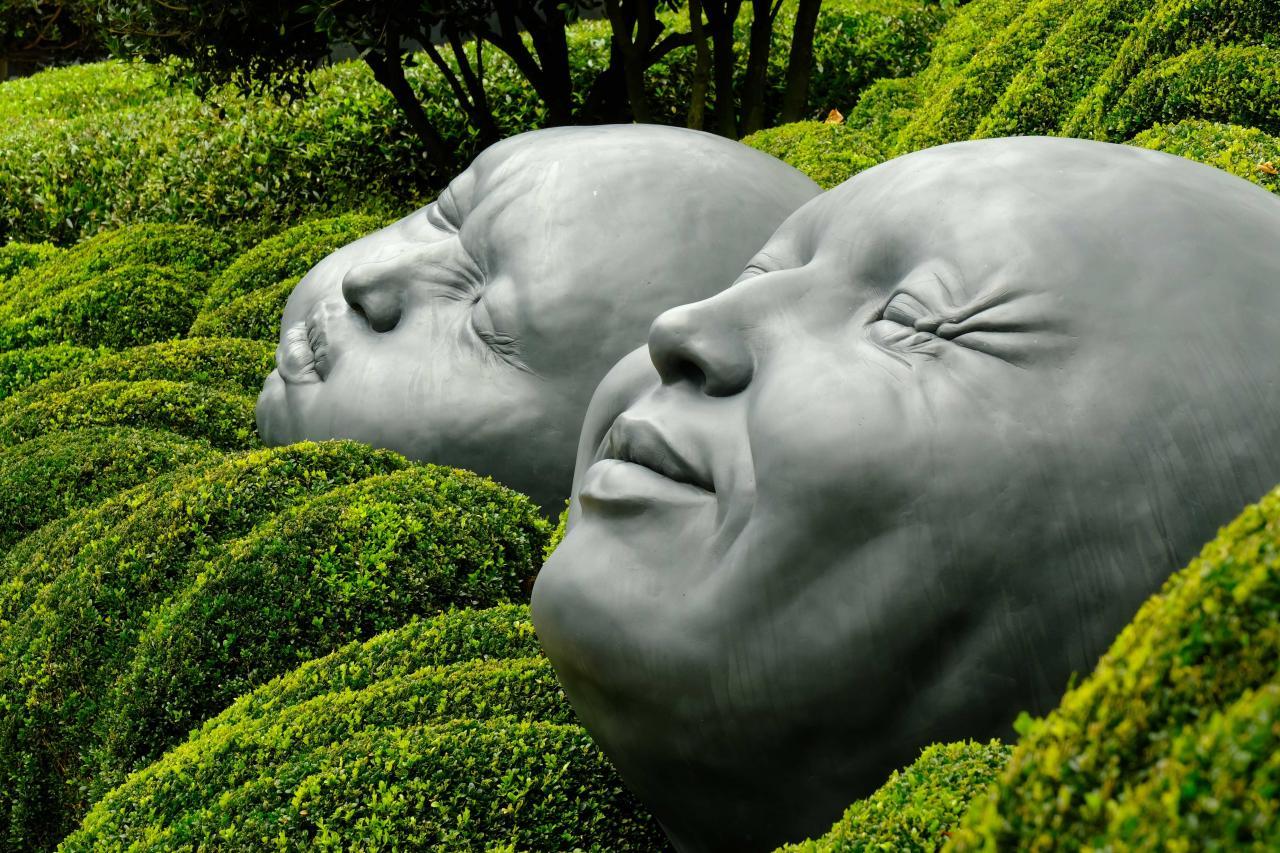 gouttes de pluie expressives de Samuel Salcedo (jardin d'Etretat)