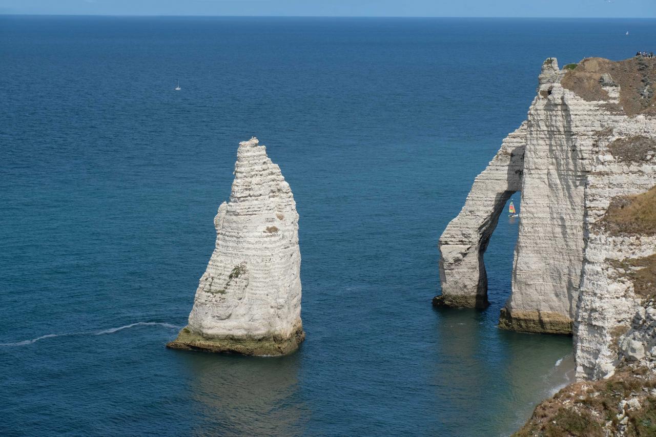 L'arche d'Aval est la plus haute des trois