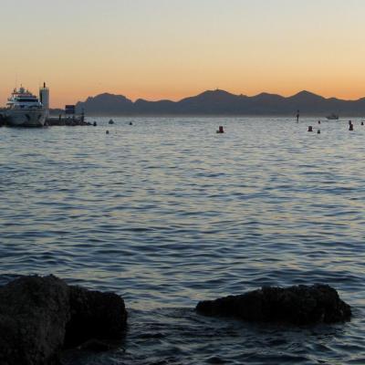 Coucher de soleil sur port Gallice (août 2004) G5 - 20h27