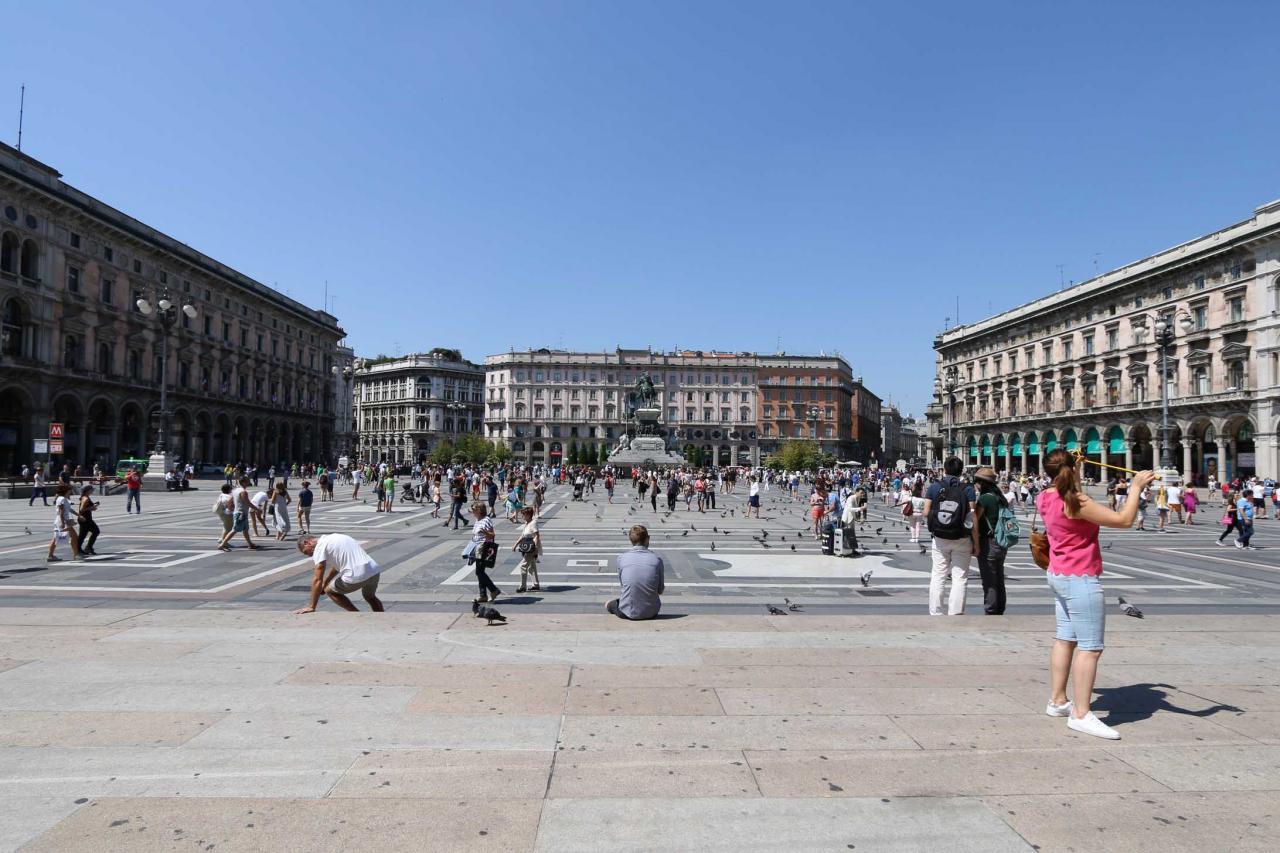 La Piazza del Duomo est la plus belle place de Milan