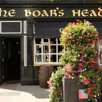 The Boar's Head (tête de sanglier) spécialité de ragoût irlandais