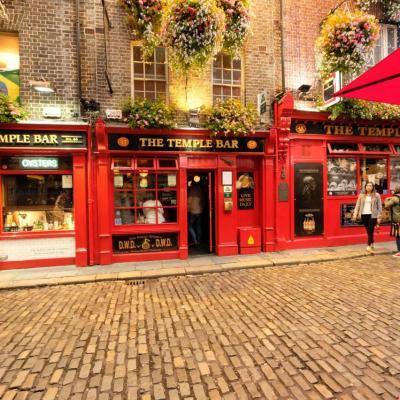 Temple Bar  un des pubs emblématiques et incontournable de Dublin