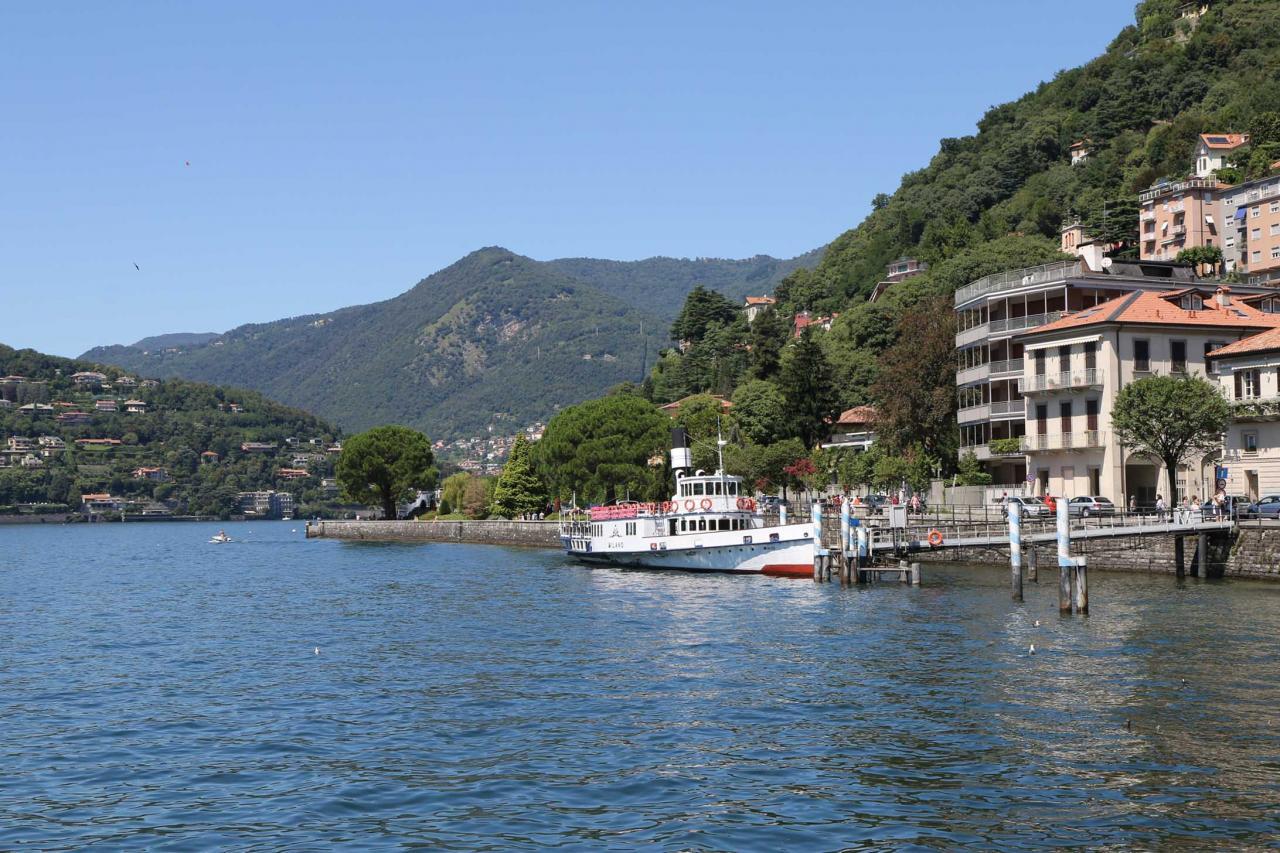 je viens de poser mes valises pour découvrir la perle des lacs italiens ...