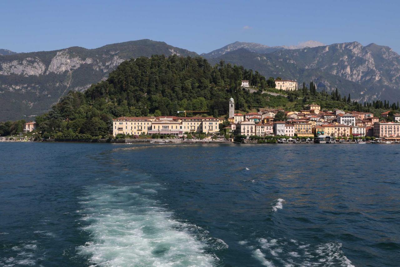 chemin inverse, Bellagio - Tremezzo