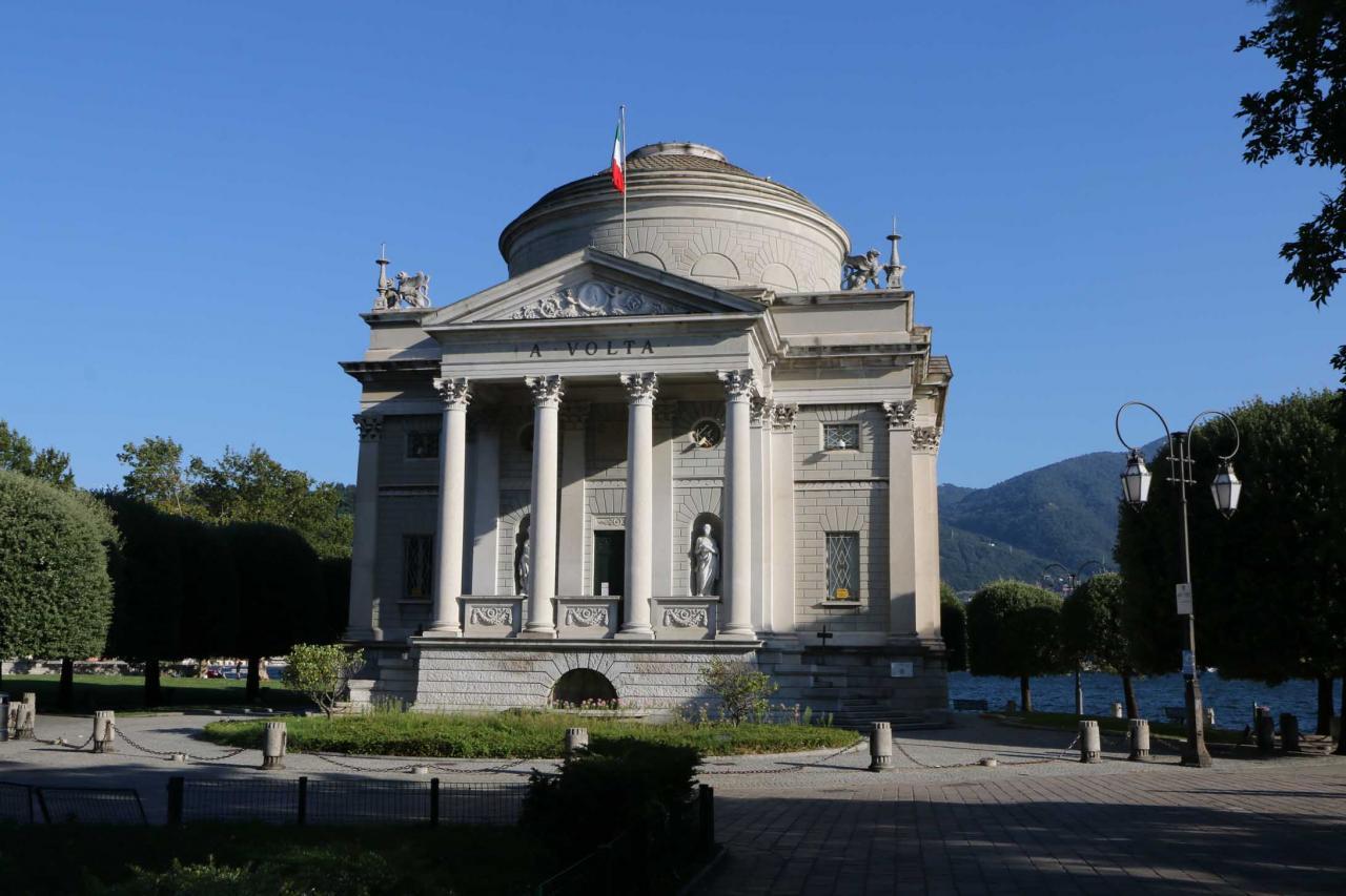 Le musée Alessandro Volta, l'inventeur de la pile « voltaîque » à Côme