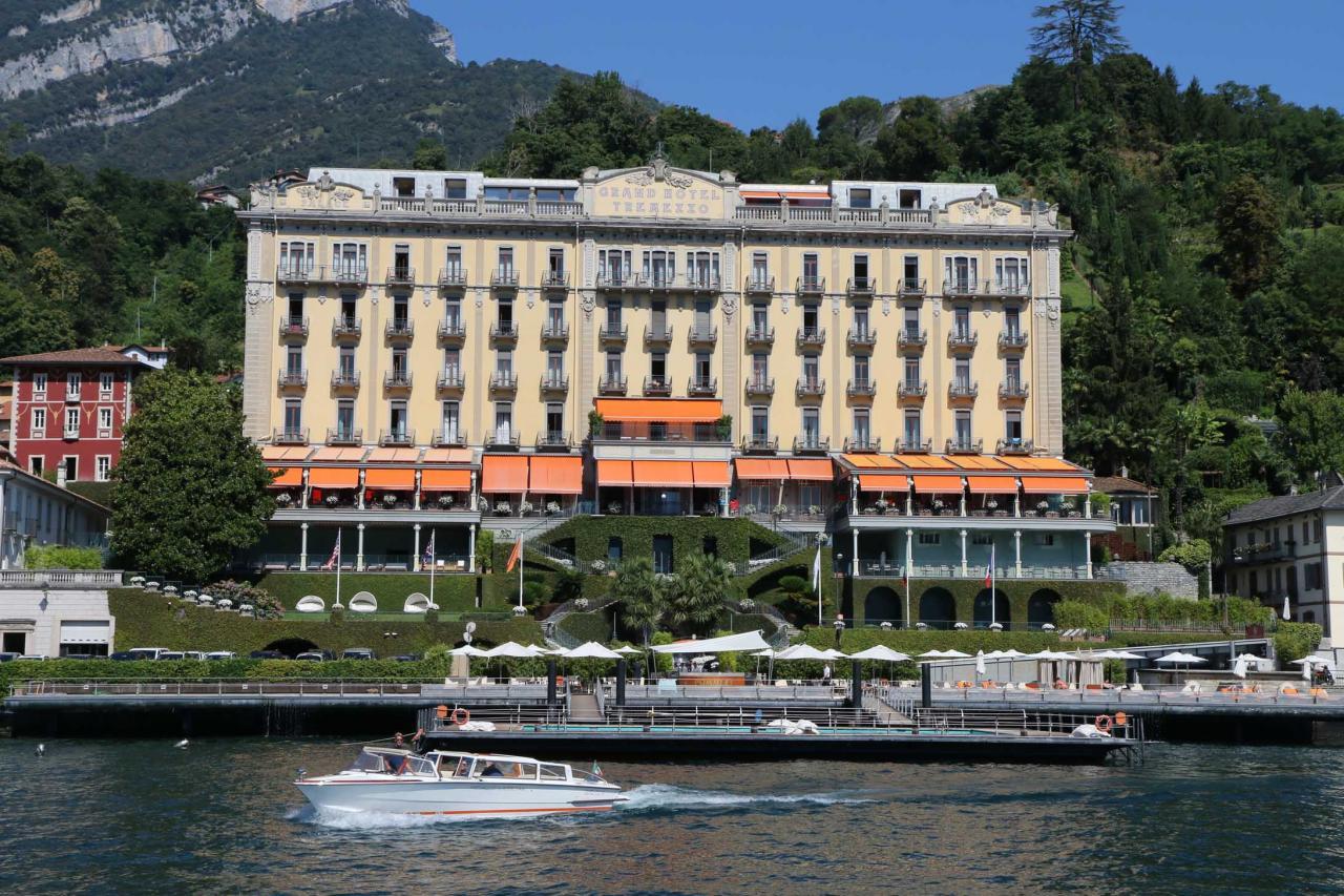 Hôtel ***** avec vue imprenable sur le lac et Bellagio