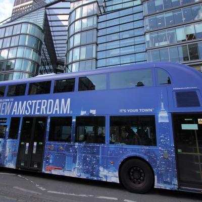Bleu comme... ce bus londonien, le seul que j'ai vu en bleu !!!