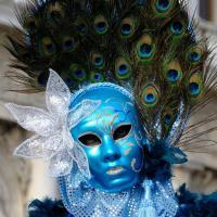 Bleu comme ... ce masque au carnaval de Venise 2018