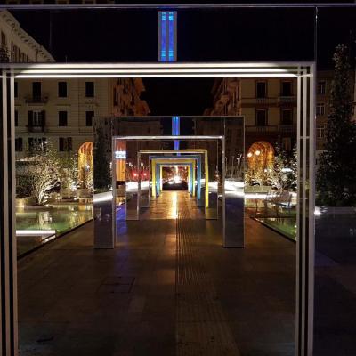Place Verdi, passage obligé de la gare de la Spezia à mon hôtel