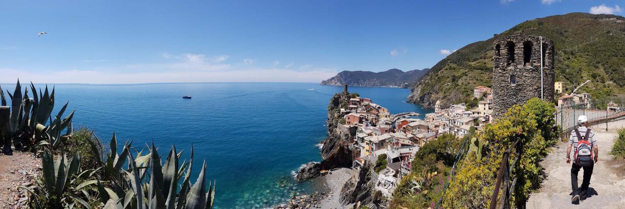 ça fait du bien d'arriver à Vernazza, la vue est sublime