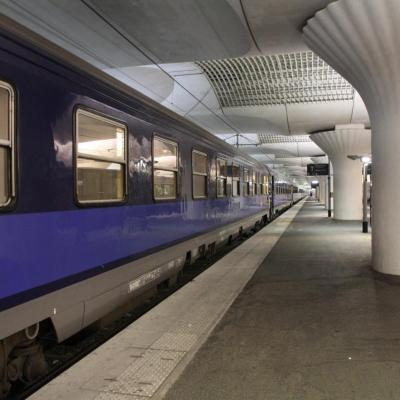 Bleu comme ... le train de nuit à Paris Austerlitz