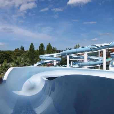 Bleu comme ... les toboggans d'Aquasplash à Antibes