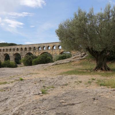 Arrivée sur le cadre prestigieux et naturel du Pont du Gard