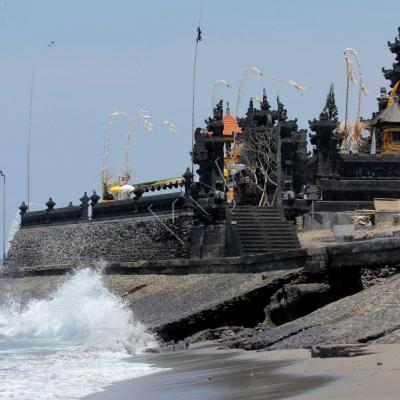 Le Pura (temple) Batu Mejan sur la plage de Batu Bolong (Canggu)