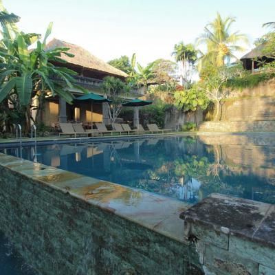 Une des piscines à débordement