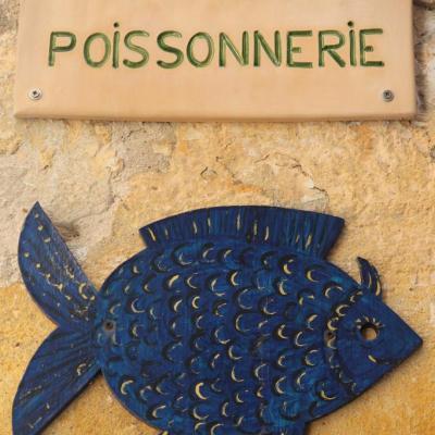 Bleu comme ... cette plaque de rue à Biot (06)