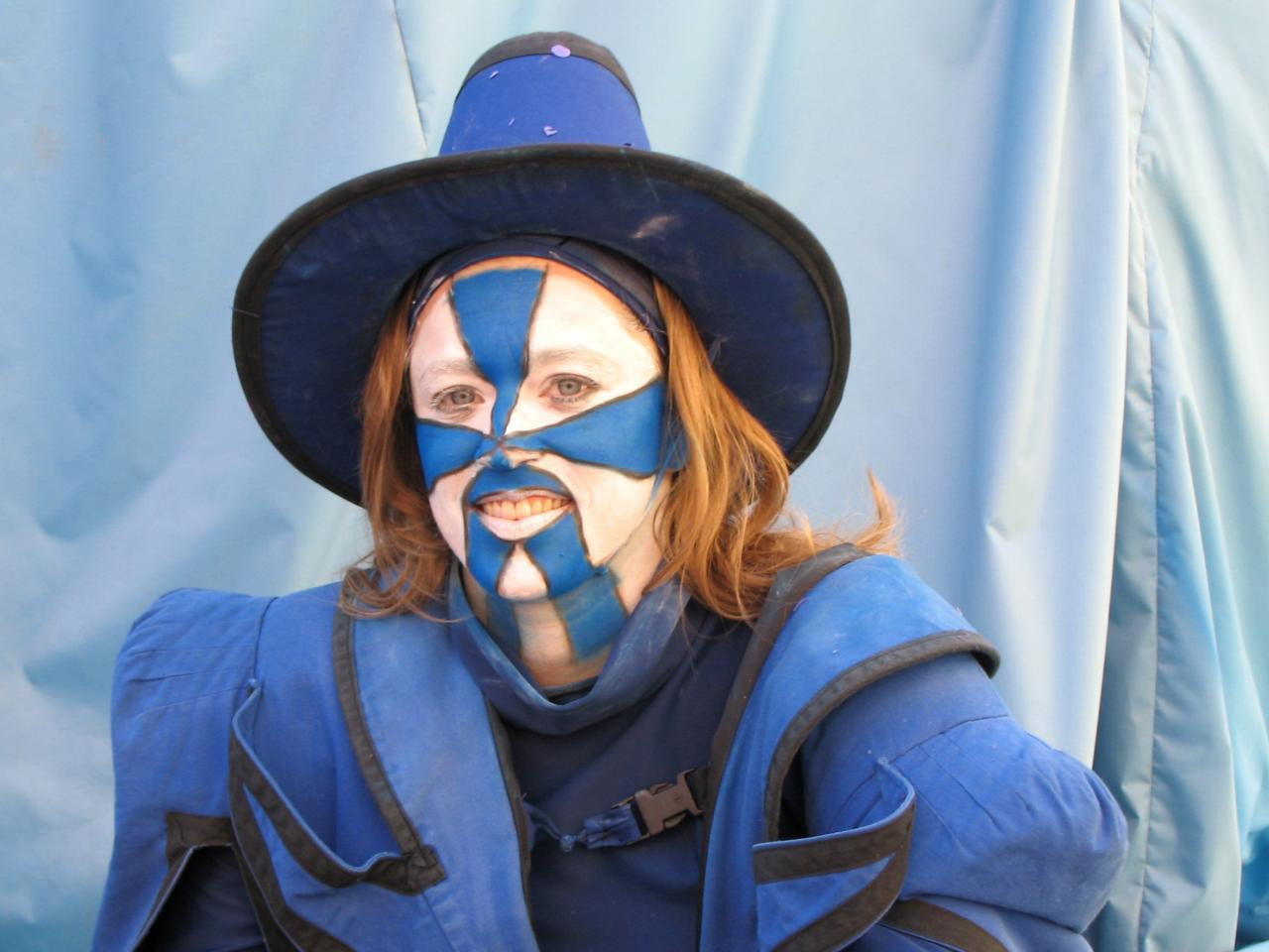 Bleu comme ... les maquillages du carnaval de Nice