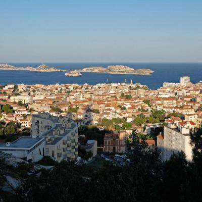Les îles du Frioul vues de Notre Dame de la Garde