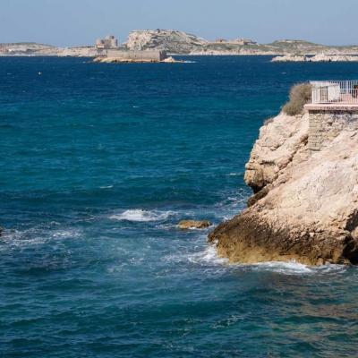 Les îles du Frioul vues de la corniche de Marseille