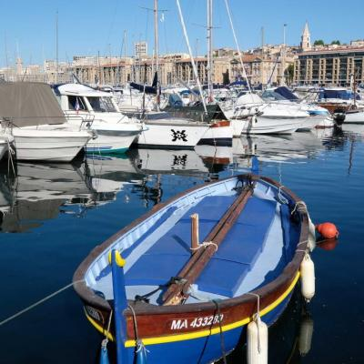 Bleu comme ... un pointu du vieux port de Marseille