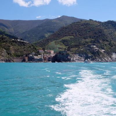 on s'éloigne de Vernazza pour le dernier village des 5 terres