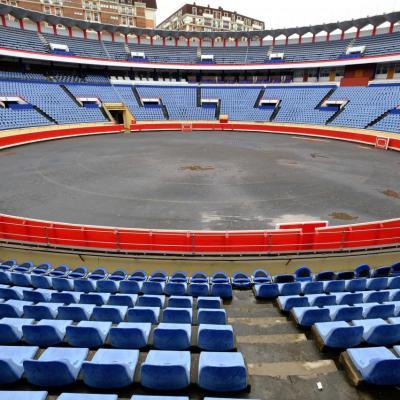 Bleu comme ... les sièges de l'arène de Bilbao