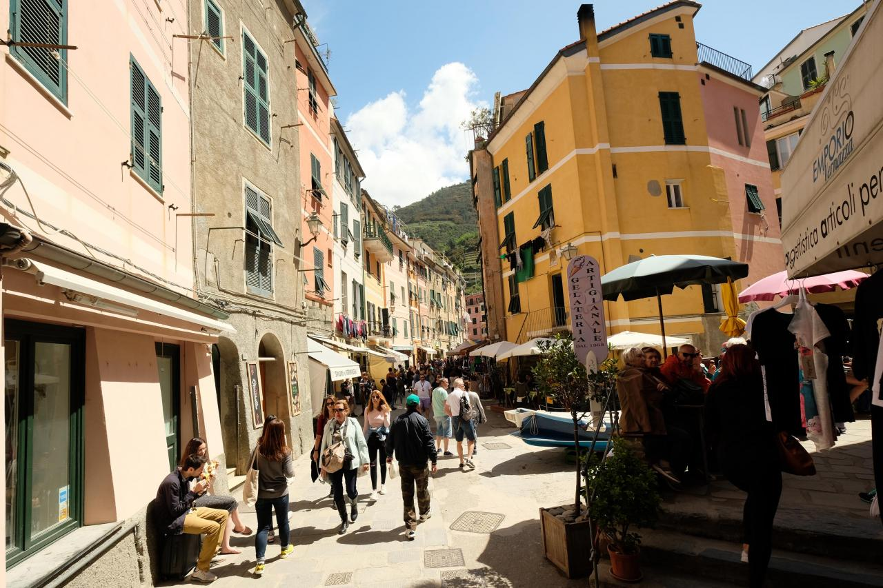 la rue principale de Vernazza