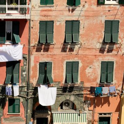 zoom sur les façades typiques de Vernazza