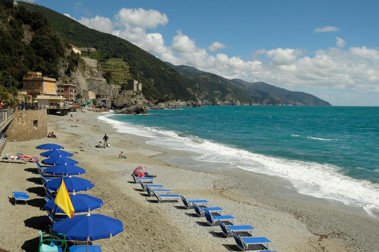 Monterrosso, le seul village à avoir une grande plage de sable fin