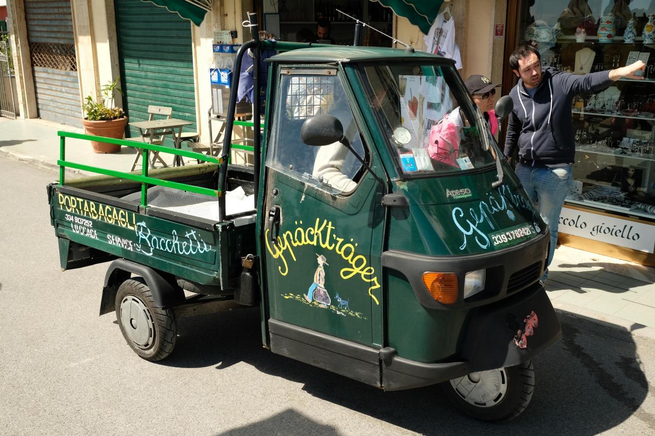 triporteur Piaggio très courant en Italie