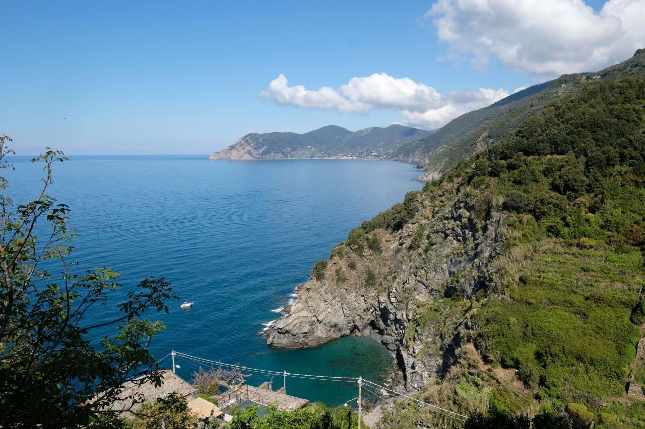 Corniglia est entourée de vigne et perché sur une falaise