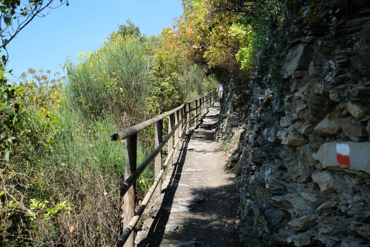 Le sentier Azzurro dit le sentier bleu relie les cinq villages (12kms en tout)