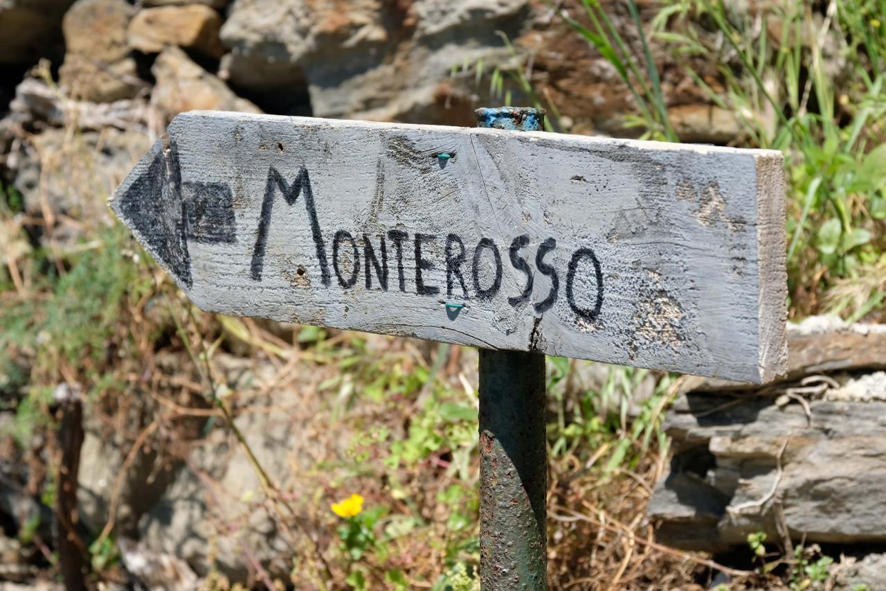 et c'est reparti pour Monterrosso - 3,3 kms mais très durs au départ