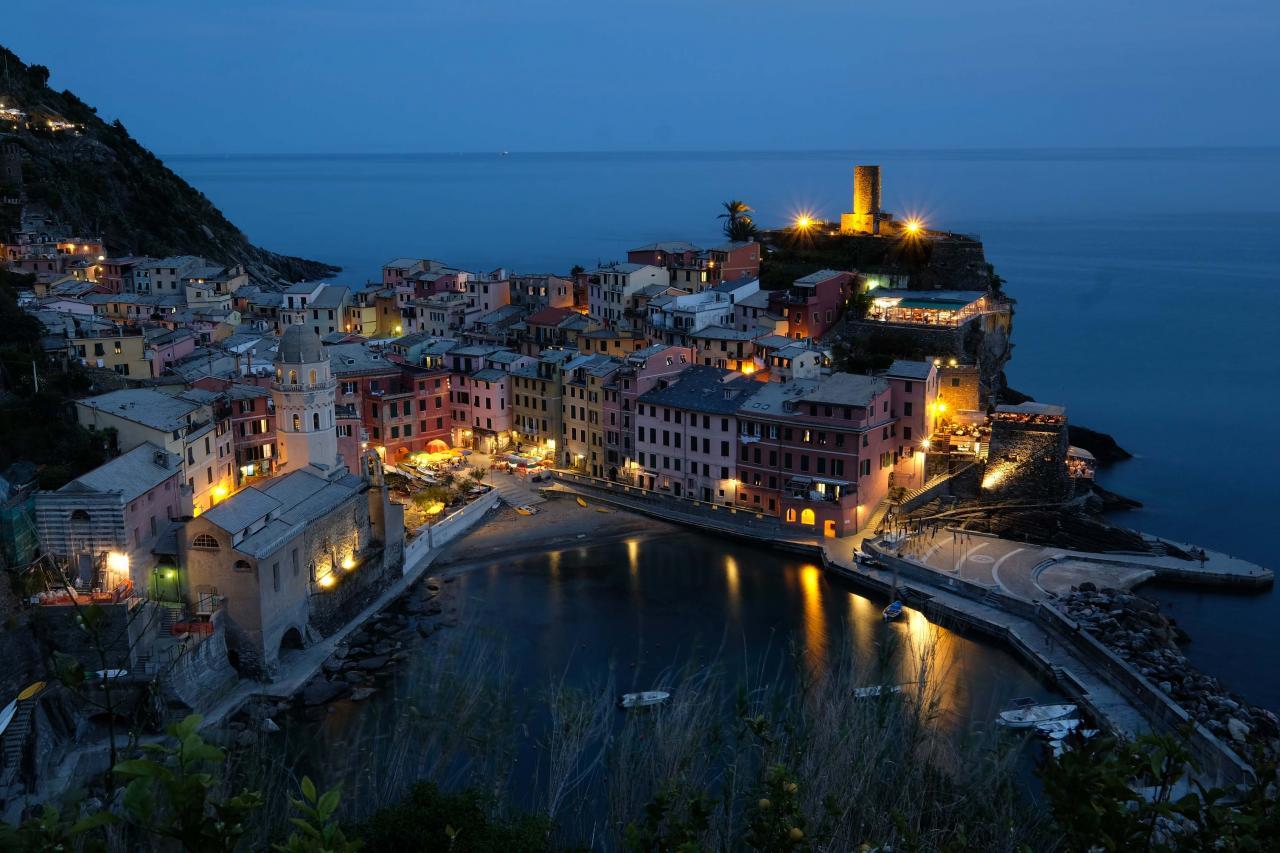 Retour à Vernazza pour ma photo de nuit ...