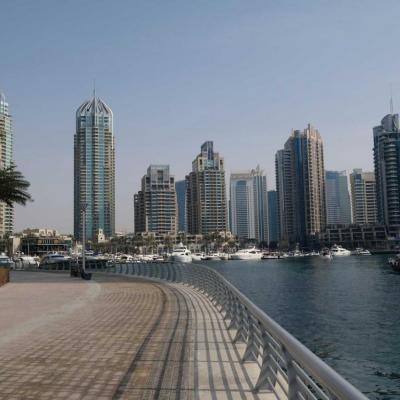 La marina de Dubaï est un lieu particulièrement plaisant