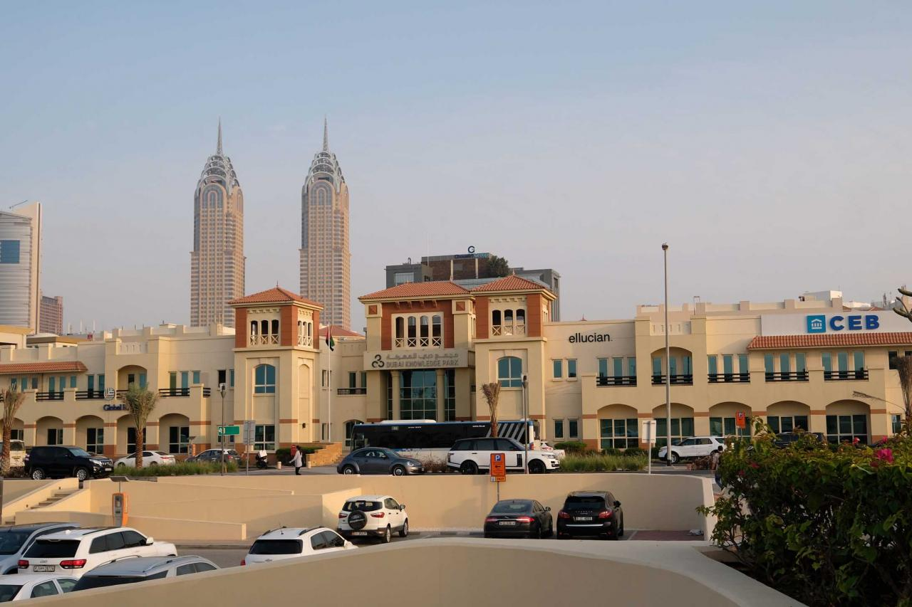 quartier différent le long de Jumeirah beach road