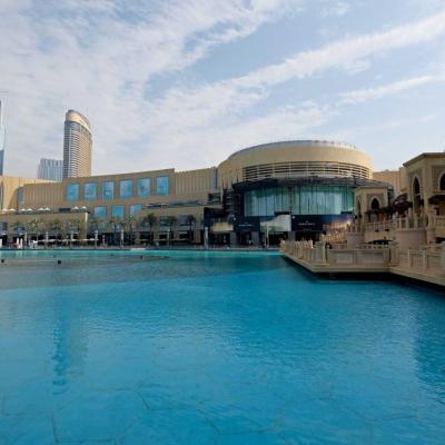 accès au Dubai Mall pour monter aux plateformes de la Burj Khalifa