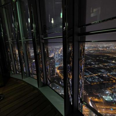 Au 148ème étage une vue encore plus impressionnante qu'au 124ème