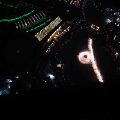 spectacle des fontaines vu du 148ème étage
