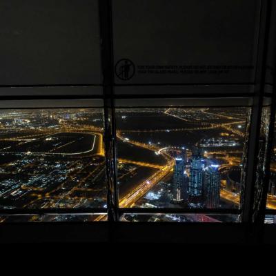 au 148ème étage nous sommes à 555 mètres (quand même)