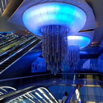 Bleu comme ... la station BurJuman sur la ligne verte de Dubaï