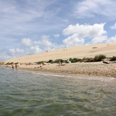 La dune du Pilat, vue du Banc d'Arguin