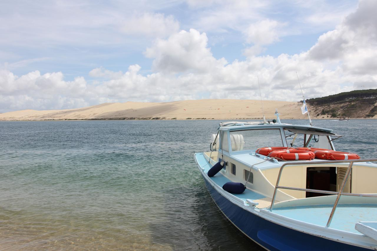 Bleu comme ... la navette entre la dune du Pilat et le banc d'Arguin
