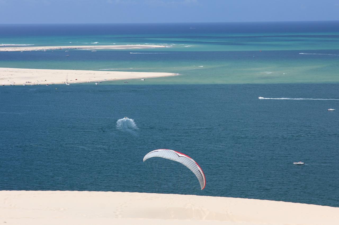 Bleu comme ... comme un lagon autour de la dune du Pilat !
