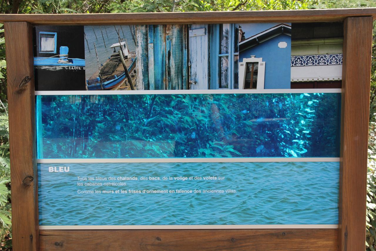 Bleu comme ... l'accès au phare du Cap Ferret (face la dune du Pilat)