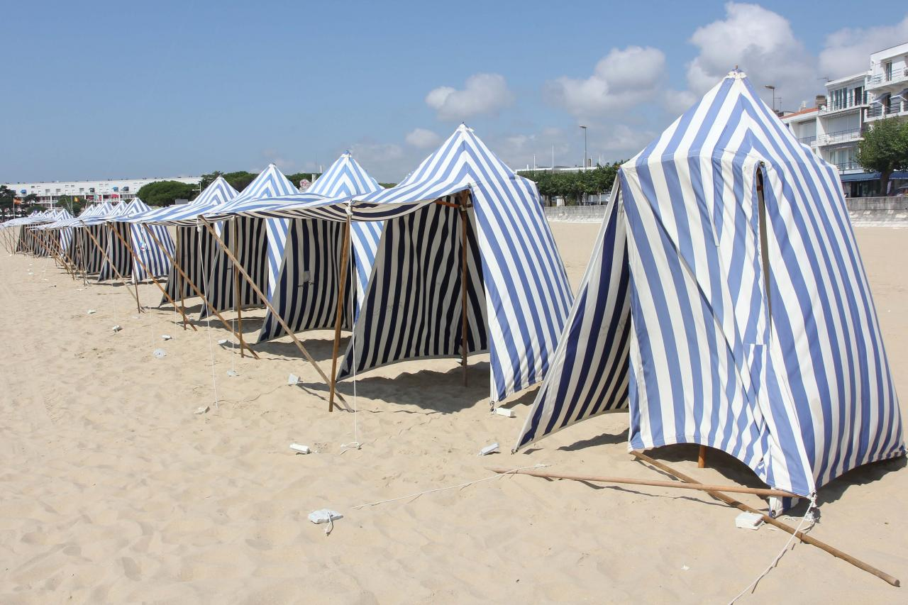 La grande plage de Royan à marée basse